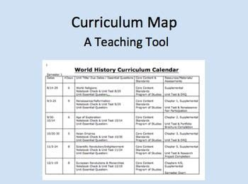 curriculum mapping template free curriculum calendar or map template from michele luck