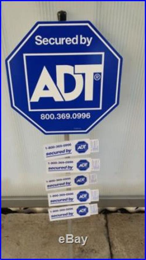 adt security yard sign and 5 sided window decals