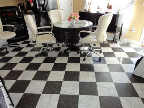 Retro Flooring by Retro Black White Kitchen Floor Vinyl Flooring