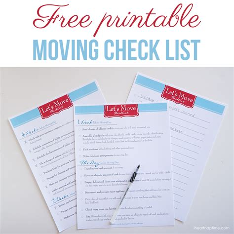 free printable to do list for moving free printable moving checklist i heart nap time