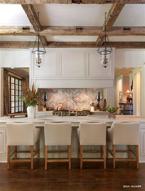 home interior design decor inspirational kitchen open kitchen with brick and rustic beams design home