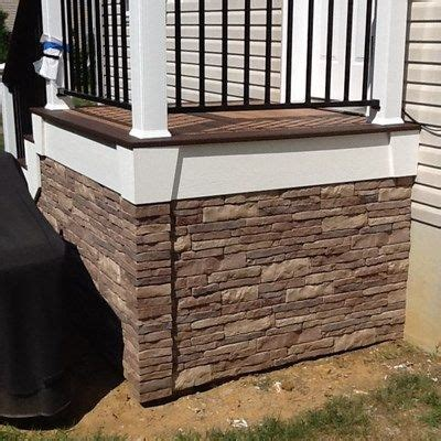 look alike rock plastic siding for shed see some other porch skirting ideas so read on to get