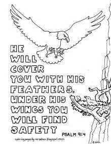 coloring pages kids adron printable coloring psalm 91 4 cover
