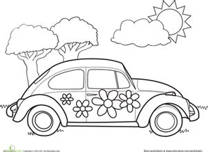 printable coloring pages vw bug vw bug outline free car coloring pages vw car interior