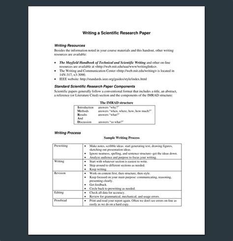 scientific paper template research outline template 20 formats exles and sles