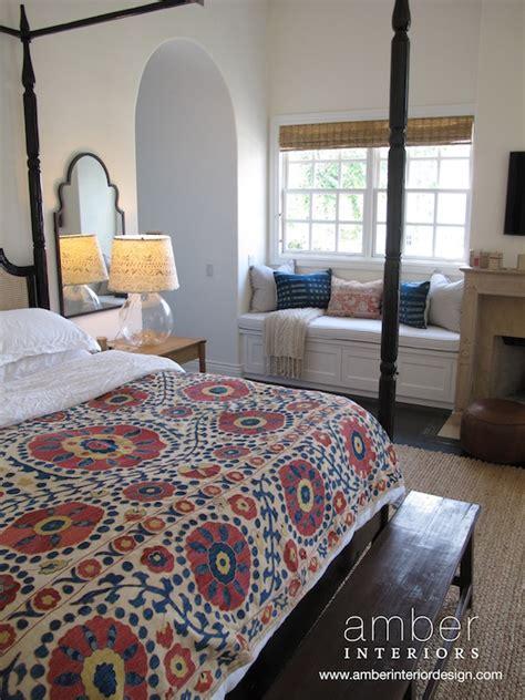 bedroom window bench built in window seat eclectic bedroom amber interiors