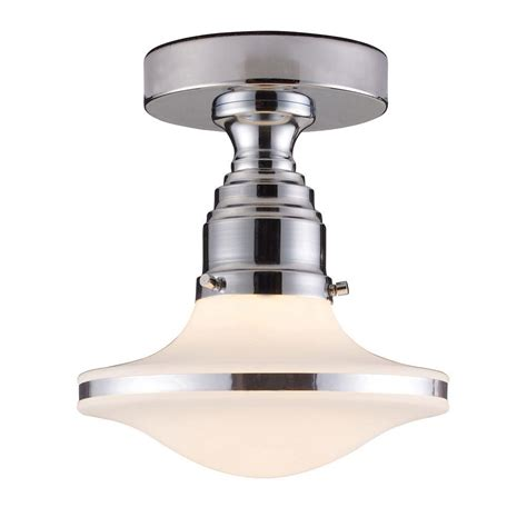 Chrome Flush Mount Ceiling Light Titan Lighting Retrospectives 1 Light Polished Chrome Ceiling Semi Flush Mount Light Tn 7191