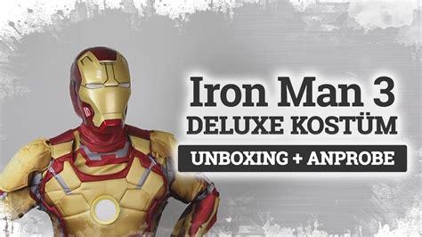 iron man deluxe kostuem mark unboxing und anprobe auf