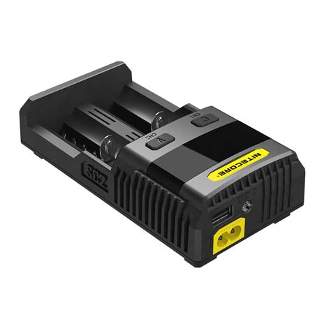 Nitecore Charger Li Ion Ni Mh Sc2 3 Ere nitecore superb speedy battery charger 2 slot 3a for li ion and nimh sc2 black