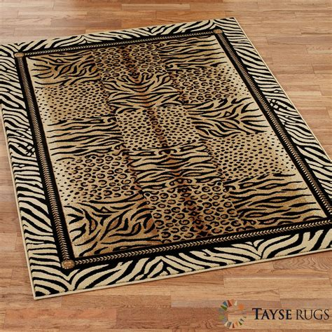 festival jungle animal print area rugs