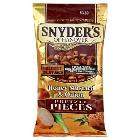 Snyders Snyders Honey Mustard 125gr snyder s of hanover pretzel pieces flavored sourdough pretzel 12 oz