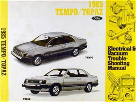 best car repair manuals 1985 mercury topaz electronic valve timing 1985 ford tempo and mercury topaz brake and cruise control vacuum diagram 2 3l
