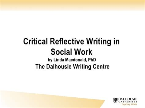 Critical Reflective Essay by Critical Reflective Writing
