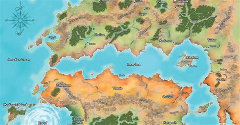 pathfinder golarion map history and lore of golarion the pathfinder society
