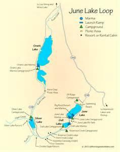 map of lakes in california june lake map