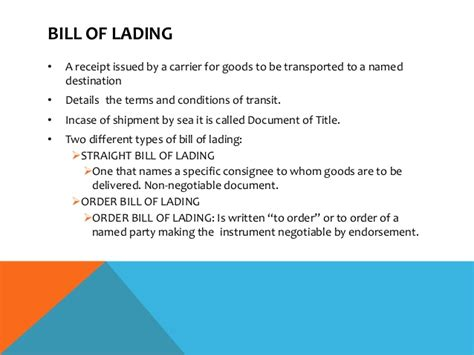 Letter Of Credit Bank As Consignee Letter Of Credit