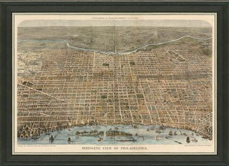 antique map of philadelphia map of philadelphia a great framed map that s ready to