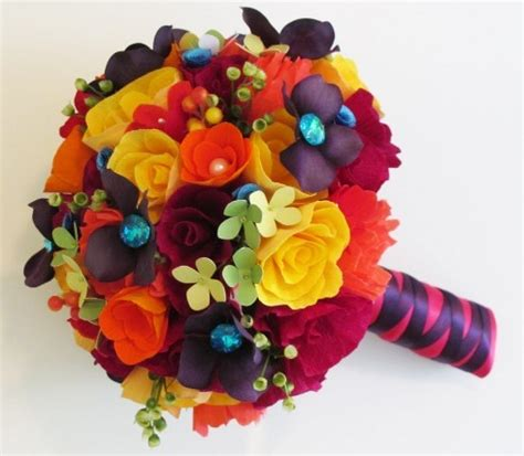 Make A Bouquet Of Flowers With Paper - paper flower bouquet for weddings