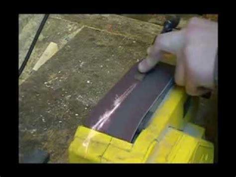 Messer Polieren Youtube by Stemmeisen Mit Dem Bandschleifer Sch 228 Rfen Philipp