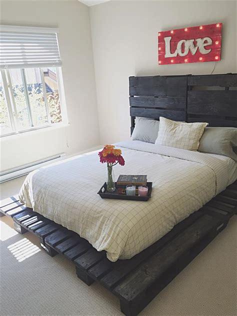 pallet bed platform pallet platform bed pallet furniture plans