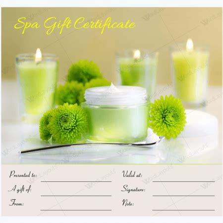 spa day gift card template spa gift certificate templates 100 spa and saloon designs