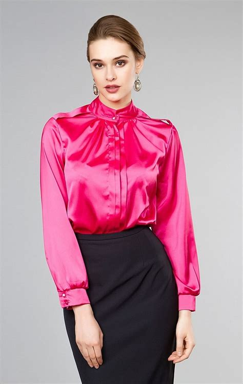 Houri Blouses X S M L 914 best satin blouses images on satin blouses