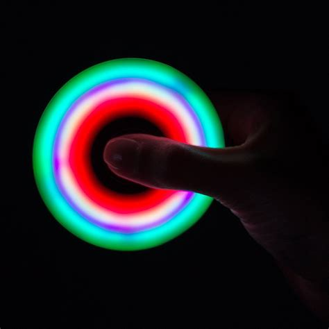 Fidget Spinner V2 Led On flashy led light 360 fidget spinner veodeals