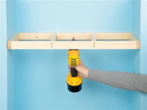 how to hang shelves diy