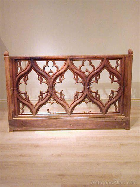antique oak headboard carved oak gothic headboard antiques atlas