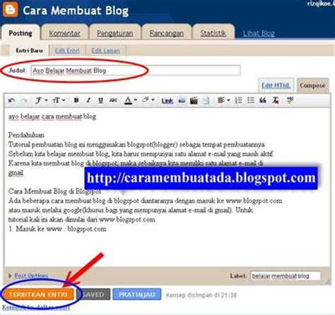 cara membuat blog gratis marketing cara membuat blog atau website baru gratis di blogspot