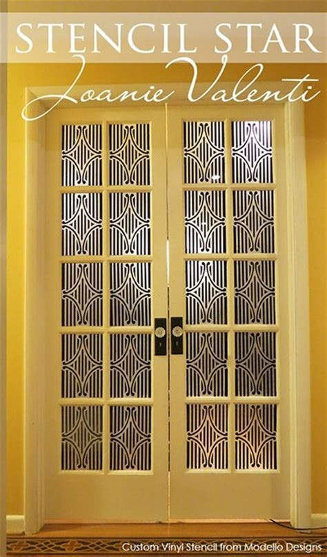 Glass Door Insets Stenciled Model Glass Doors Glass Door Stencils