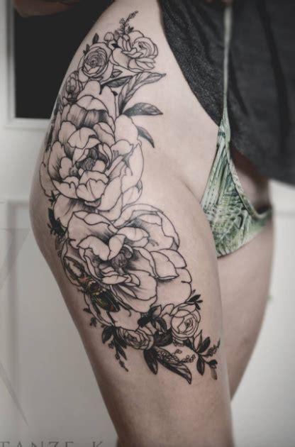 black and gray flower tattoos black and gray flower inkstylemag