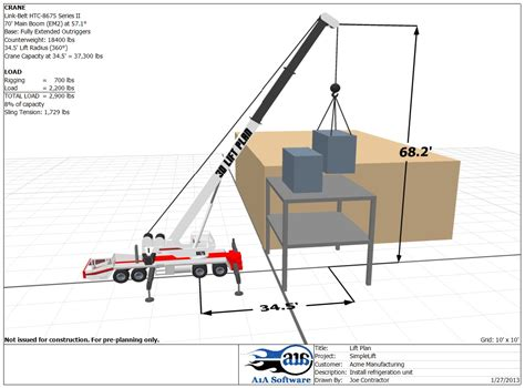crane template crane lift plan template quotes