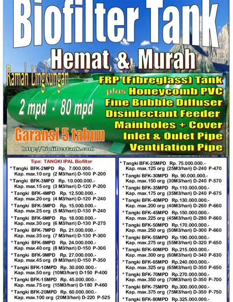 Bio Septictank Murah 1 daftar harga bio seven tangki ipal biofilter