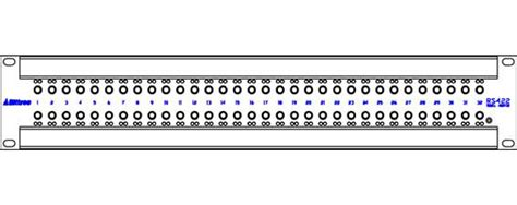 adc patch panel label template bittree 422a32 64 port 2x32 rs422 active data patchbay