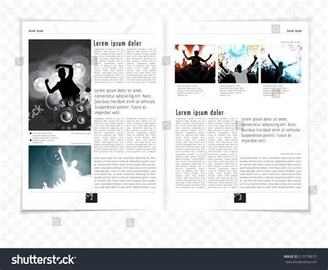 vector layout magazine layout magazine vector stock vector 213778675 shutterstock