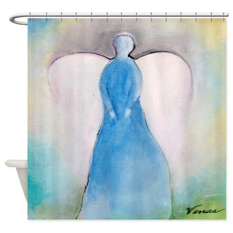 angel shower curtains guardian angel shower curtain by theartofvenus