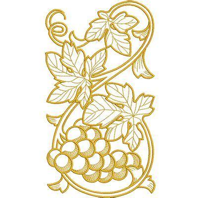 cenefas de uvas en punto de cruz vertical cenefas uvas 1 cosas pinterest bordado