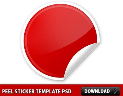 free sticker template free design psd studio design gallery