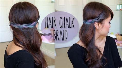 diy hairstyles bebexo diy rainbow braid hairstyle splat hair chalk tutorial
