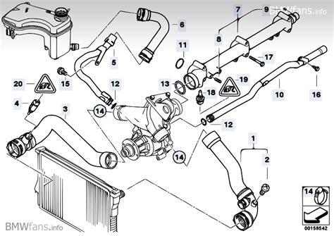 E46 Radiator Hose Diagram