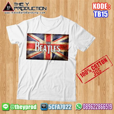 Kaos Band The Beatles 01 Pre Order kaos the beatles tb15 kaosbandbandung