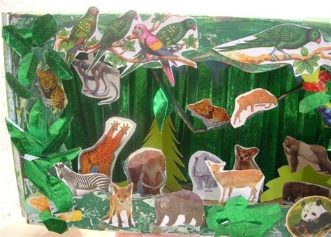 How To Make Rainforest Animals Out Of Paper - cards crafts projects jungle diorama stuff
