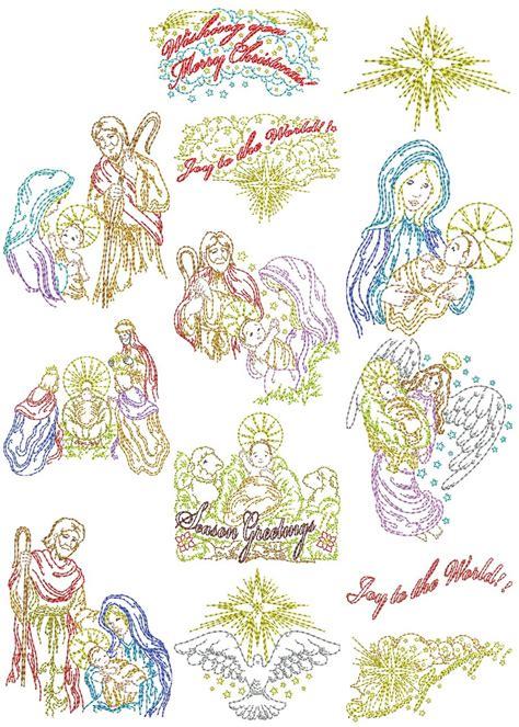 Vintage Story Bundle Sale Sz12 vintage nativity designs machine embroidery designs by