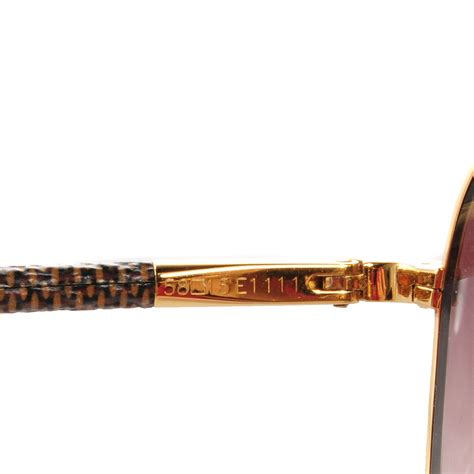 Fab Find Louis Vuitton Conspiration Pilote Canvas Aviators by Louis Vuitton Conspiration Pilote Aviator Sunglasses Gold