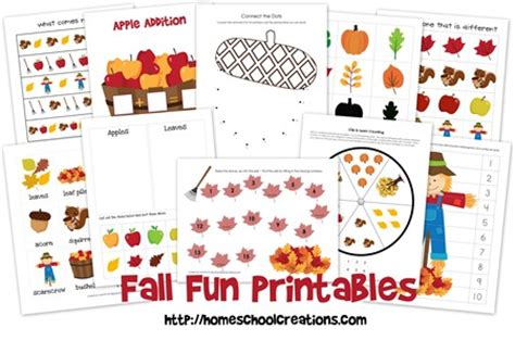 printable preschool fall activities free fall preschool printables