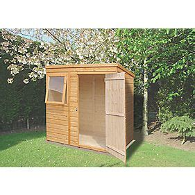 shire 6 x 4 nominal pent shiplap t g timber shed