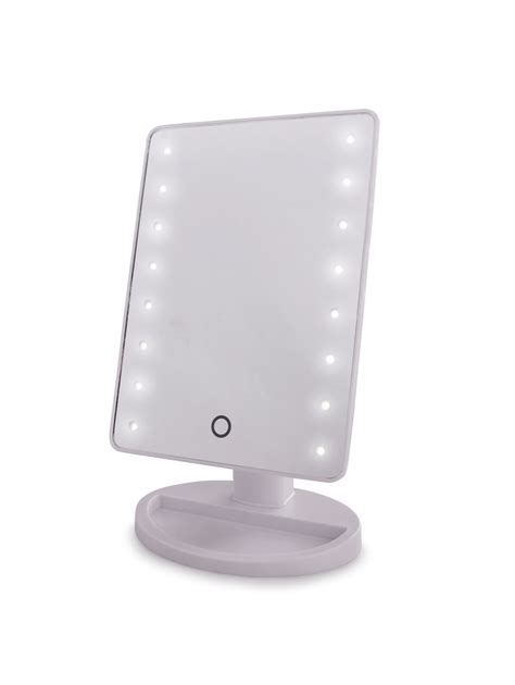 battery operated bathroom mirror white battery operated shaving vanity bathroom mirror