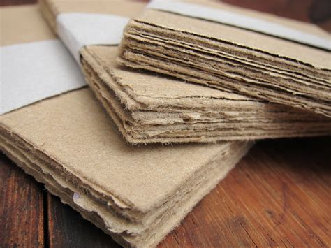Handmade Paper Sheets - brown handmade paper sheets recycled paper rustic