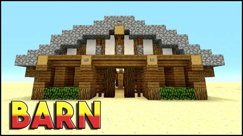 scheune in minecraft barn minecraft how to build a barn tutorial